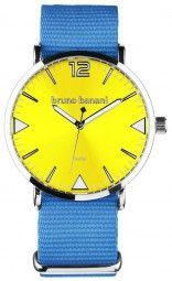 Bruno Banani Cool Color Edition Uhr BR30066 - hellblau/gelb