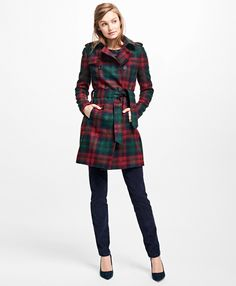 """<a href=""""#pdplearnmore"""" class=""""lm"""">The Red Fleece Collection</a><br>Fully lined, this wool-mohair-blend coat offers a traditional trench silhouette with a boucle texture and self-fabric belt for waist definition.<br><br>34 ½""""; dry-clean only; woven in the UK; imported."""