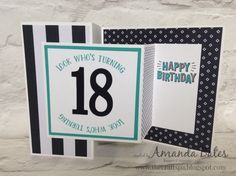 The Craft Spa - Stampin' Up! UK independent demonstrator : Number of Years Double Z Joy Fold Card