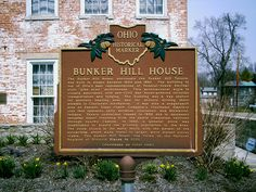Fairhaven, OH (Preble County) - Ohio Historical Marker #3 - 68 at The Bunker Hill House.