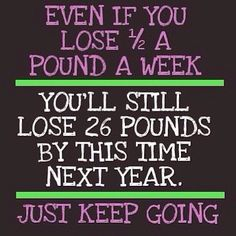 75 lbs. down, in a year and a half. I need this reminder, because the weight loss has gotten painfully slow- but I'm still losing.
