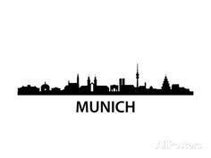 Munich Skyline Poster von unkreatives bei AllPosters.de
