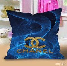 Chanel art blue smoke Pillow Cases