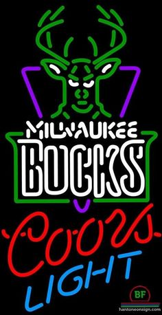 f73af0e3a1b Coors Light Milwaukee Bucks Neon Sign NBA Teams Neon Light