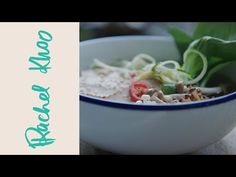 Rachel Khoo Veggie noodle soup. Syn free. (Use sweetner rather than sugar when pickling your chillies.)
