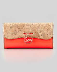 Riviera Patent Leather & Cork Clutch Bag by Christian Louboutin at Neiman Marcus.