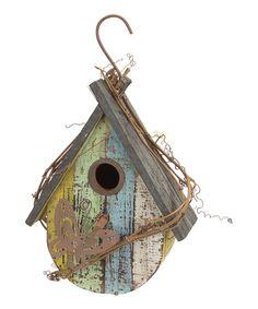 Another great find on #zulily! Hanging Round Birdhouse #zulilyfinds