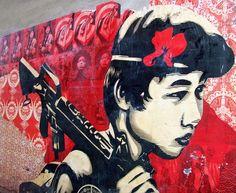 Shepard Fairey Mural near Logan Circle in Washington D.C.