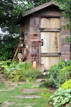 Backyard Sheds, Backyard Patio Designs, Backyard Landscaping, Garden Tool Shed, Garden Sheds, Garden Art, Home And Garden, She Sheds, Tool Sheds