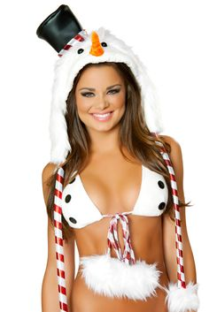 Deluxe Snowman Hood with Hat #christmas #santa #sexy #sexysanta #noel #xmas #party #whitechristmas #fancydress #costume #fancydresscostume #sparklingstrawberry