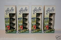 4 Glade Scented Oil Candles refills Holiday Collection HOLLYBERRY WREATH 4 boxes