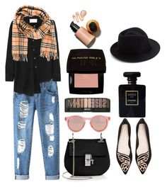 """""""HatTrend"""" by silvia-f-alex ❤ liked on Polyvore featuring Chicnova Fashion, Maison Margiela, Chloé, Le Specs, Sophia Webster, Sunday Riley, Burberry, Chanel and Eugenia Kim"""