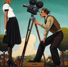 this kenton nelson painting reminds me of me and my guy. we met in film school.