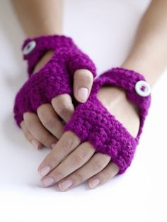 Free Crochet Pattern: Crochet Driving Gloves .....Marlene - make these for me once you learn to crochet! Please :D