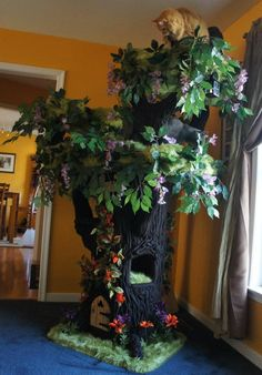The Most Amazing Cat Tree EVA! Fantasy Forest Cat Tree | LunaTurd Cat - wish we could have a whole room of these! (Or maybe just one for starters)