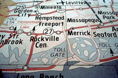 Portion of Long Island, Terrazzo Road Map, New York World's Fair by MindfulWalker, via Flickr