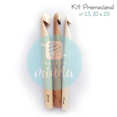 Kits promocionais - Agulhas de bambu 15, 20 e 25