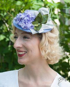 Hat 1940s Tilt Perch Doll Hat Fascinator in by LadyEveMillinery
