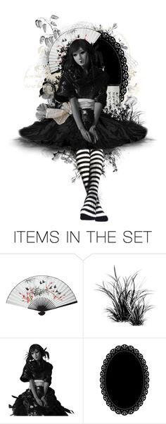 """""""Okiku Doll"""" by girlinthebigbox ❤ liked on Polyvore featuring art, doll, creepy, horror and macabre"""