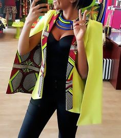 Cape mouw Ankara Blazer by Africandressshop | Etsy