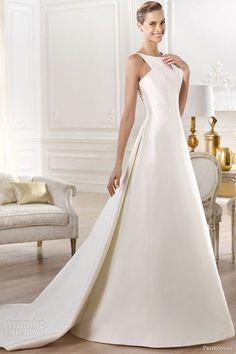pronovias bridal atelier 2014 yelibeth wedding dress, I love the beautiful, elegant simplicity of this dress