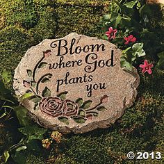 """""""Bloom Where God Plants You"""" Stepping-Stone"""