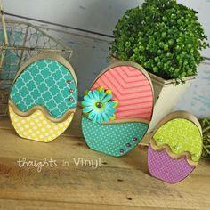Easter Egg Trio | Wood Easter Eggs | DIY Easter Crafts