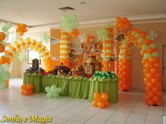 Birthday for Rocky Lion King Theme, Lion King Party, Lion King Birthday, Baby 1st Birthday, 1st Birthday Parties, Birthday Ideas, Mickey Baby Showers, Baby Shower Parties, Baby Shower Themes