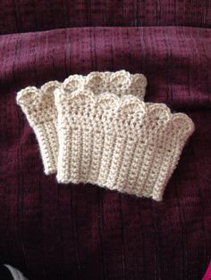 Crochet Boot Cuff  Choose Your Color by StayKnotty on Etsy