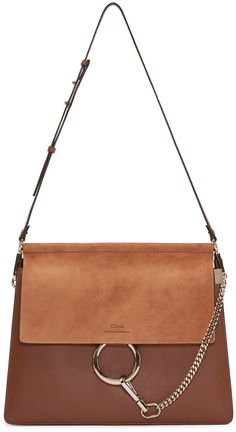 0102710663 CHLOÉ Brown Leather  amp  Suede Medium Faye Bag.  chloé  bags  shoulder