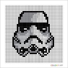 Stormtrooper - Star Wars pixel art by kuromigrl