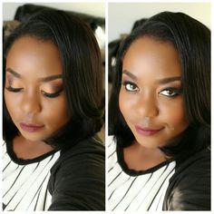 Just peachy makeup look