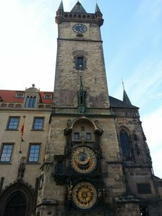 The Astronomical Clock in Old Town Square, Prague, Czech Republic. Legend says that the Czech councillors blinded Hanus who did repairs on the clock by burning out his eyes with a hot poker so that he could not recreate another similar clock in any other City.