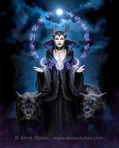 Anne Stokes, Gothic Angel, Gothic Fairy, Dragon Illustration, Gothic Fantasy Art, Moon Witch, Fairy Pictures, Poster, Art Prints