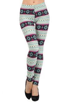 Shop online for cute This leggings features a snowflake print. Tribal Print Leggings, Printed Leggings, Snowflake Leggings, Faux Leather Leggings, Leggings Fashion, Fashion Prints, Cute Outfits, My Style, Womens Fashion