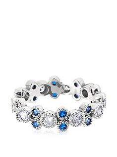 www.myhabit.com  Sophisticated, 18K white gold-plated ring with shimmering white and sapphire Swarovski Element accents.