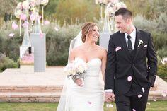 Blush Pink Wedding at El Chorro Lodge | Such a cute wedding moment!
