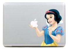 Snow White Apple Decal // Found! So clever...