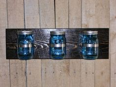 Check out this item in my Etsy shop https://www.etsy.com/listing/196957595/mason-jar-wall-shelf