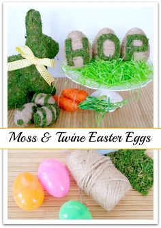 Moss & Twine Easter Eggs tutorial. A quick and easy craft that can be done in under an hour.