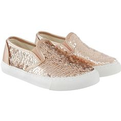 Monsoon Monsoon Reversible Sequins Slip On Plimsoll (120 ILS) ❤ liked on Polyvore featuring shoes, sneakers, sparkly sneakers, slip on sneakers, metallic slip on sneakers, metallic slip on shoes and canvas slip on sneakers