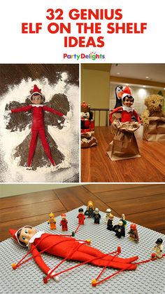 Doing elf on the shelf this year? We've rounded up our favourite elf on the shelf ideas to give you a helping hand! Doing elf on the shelf this year? We've rounded up our favourite elf on the shelf ideas to give you a helping hand! Noel Christmas, Christmas Elf, All Things Christmas, Christmas Crafts, Christmas Bedroom, Cool Christmas Ideas, Christmas Humor, Christmas Beanie, Magical Christmas