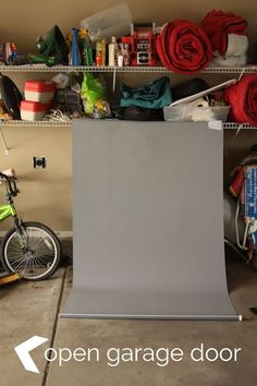 Homemade backdrop