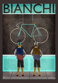 Bianchi One Day Poster Sizes Available 23 4 x 16 5 33 1 x 23 4 46 8 x 33 1 printed on quality heavy weight matt art paper signed by the Cycling Art, Cycling Bikes, Atelier Theme, Bike Illustration, Bike Poster, Pit Bike, Fixed Gear Bike, Vintage Poster, Bicycle Art