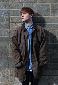 Vtg Mens Wrangler Brown Cotton Oversize Long Jacket from ZODAAR