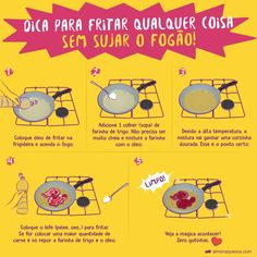 Me conta se deu certo? Living Alone Tips, Home Hacks, Survival Tips, Clean House, Good To Know, Cleaning Hacks, Planer, Carne, Helpful Hints