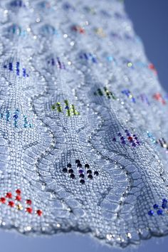 Ravelry: Harry Clarke pattern by Kieran Foley Lace Knitting, Knitting Stitches, Crochet Shawl, Knitting Patterns, Knit Crochet, Crochet Patterns, Knit Lace, Knitted Shawls, Harry Clarke