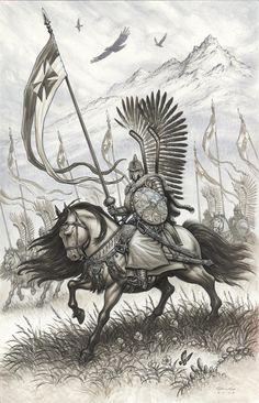 Crossing the Tatras? Polish Tattoos, Der Joker, Character Art, Character Design, Poland History, Crusader Knight, Landsknecht, Bristol Board, Medieval Fantasy