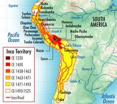 Incan Empire in Peru Map