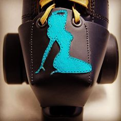 Hubba Hubba! And they are available in my shop at http://ift.tt/1GryXpX. #toeguards #rollerderby #skates #pinups #turquoise #leathercraft #lasercutting #pinupgirls by derbyvixen